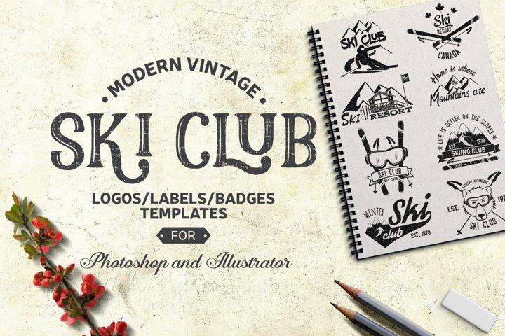 Vintage Ski Club Logos/Labels/Badges