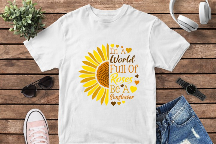 Be a sunflower svg design for kids tshirt