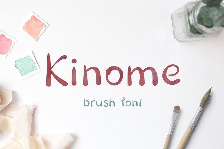 Kinome - Brush font