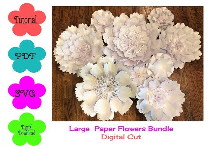 Large Paper Flower Templates Bundle Deal| Digital Cut