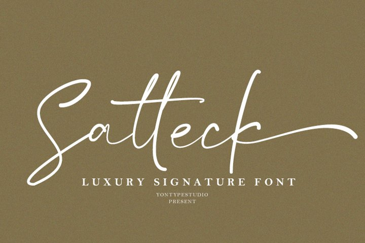 Satteck A Luxury Calligraphy Signature Font