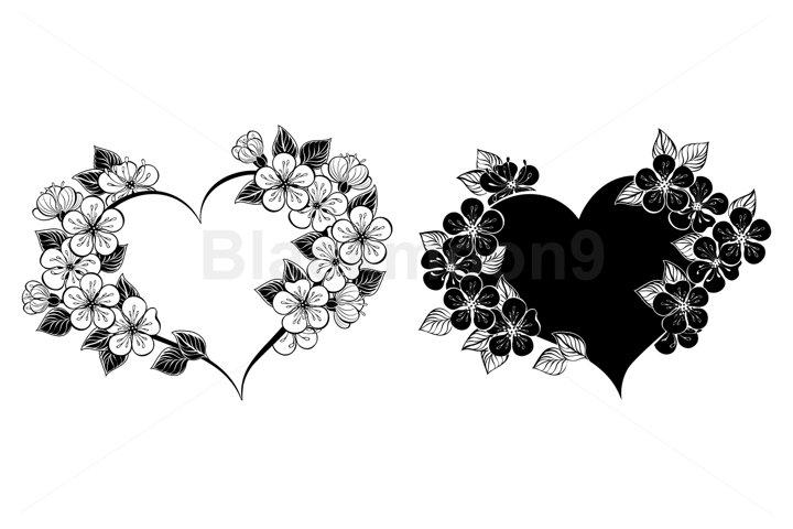Cherry Blossom Heart Frame