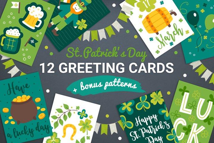 12 Patrick Cards & Bonus Patterns