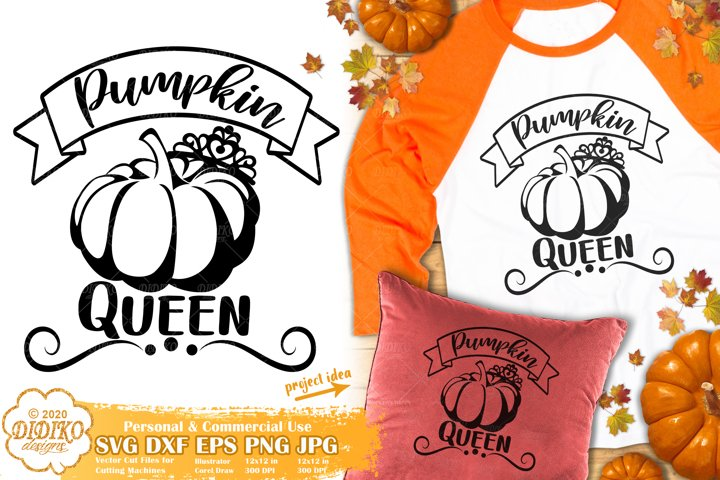 Pumpkin SVG |Thanksgiving SVG | Pumpkin Queen SVG | Fall SVG