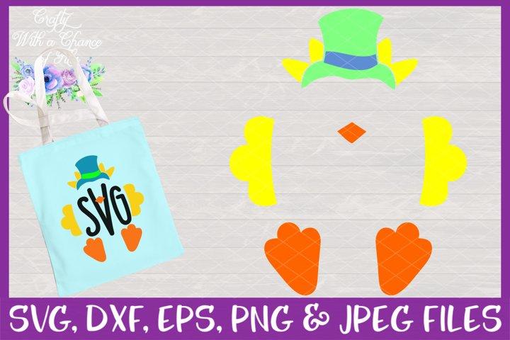 Boy Chick Monogram SVG - Easter Design
