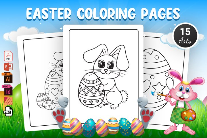 Easter Coloring Pages - KDP Interior