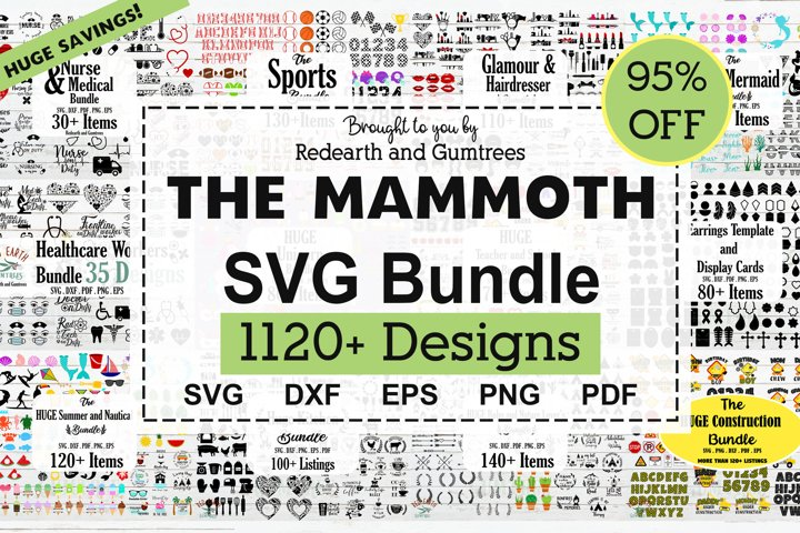 The Mammoth SVG Bundle, Huge Collection of SVG cut files
