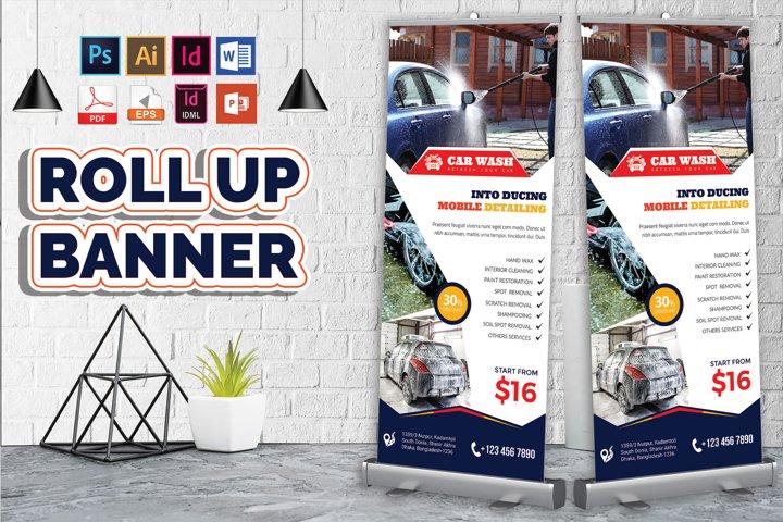 Car Wash Rollup Banner Vol-08
