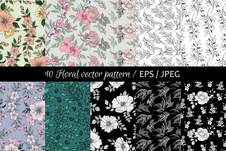Floral Vector Set Pattern