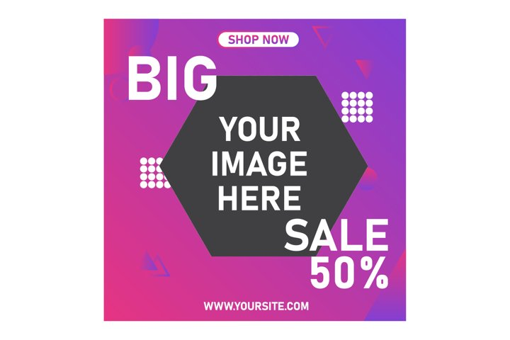 Modern digital marketing banner, web banner design