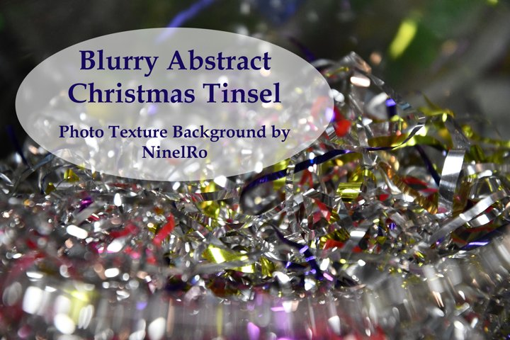 Blurry Abstract Christmas Tinsel Photo Texture Background