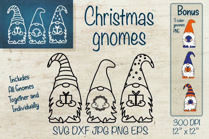 Christmas Gnome SVG. Gnome SVG. Gnome bundle SVG.