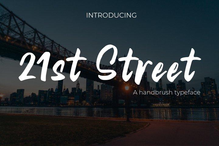 21st Street Hand brush Typeface
