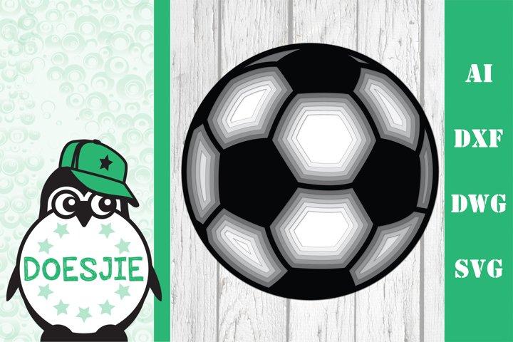 Multi layer mandala 3d ball soccer ball svg
