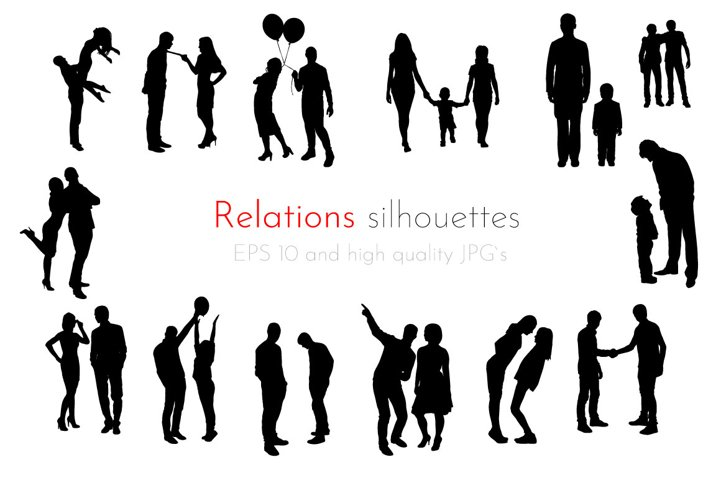 Relationships Silhouettes