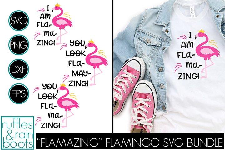 Flamingo SVG Trio - Flamazing Flamingo Clipart and Cut Files