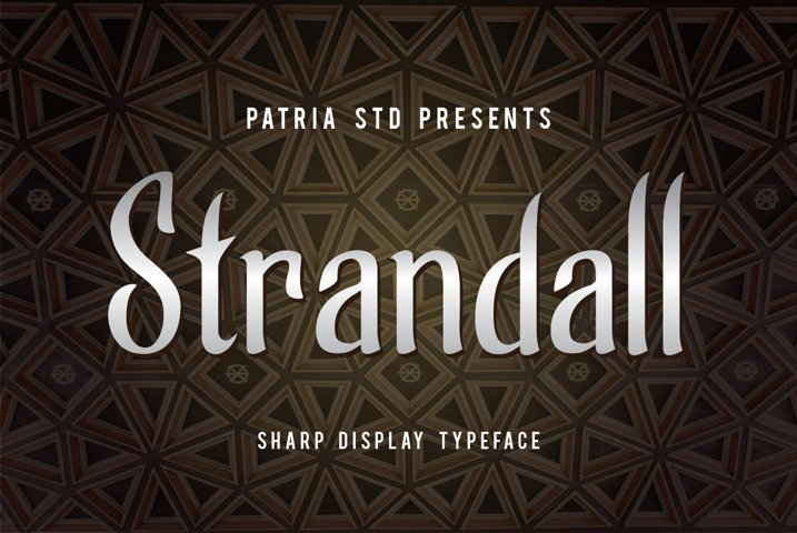 Strandall Display Typeface