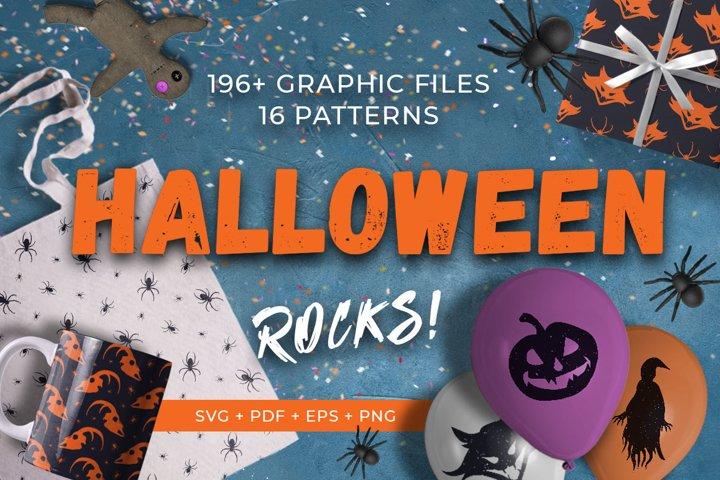 Halloween Rocks vector kit SVG PNG PDF EPS illustrations