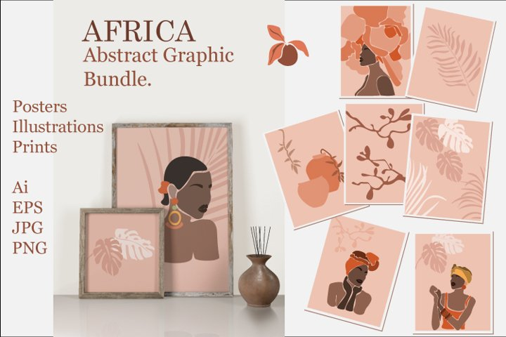 Africa. Abstract graphic collection.