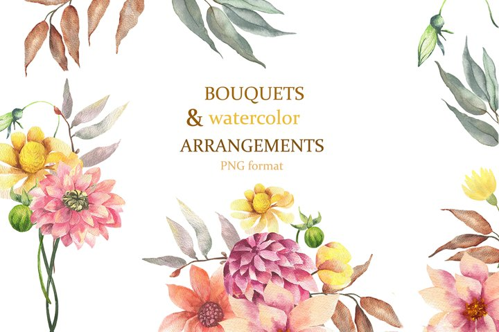 Watercolor bouquets