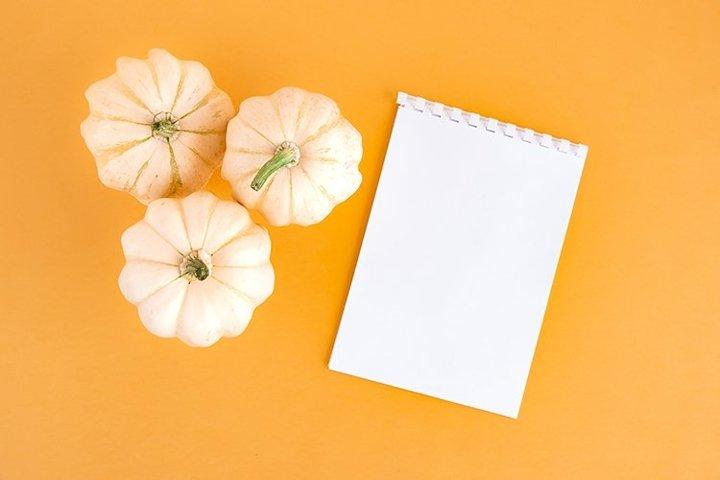 Autumn background with pumpkins.