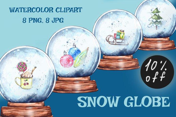 Christmas Snow Globe Snowglobe Sublimation Watercolor set