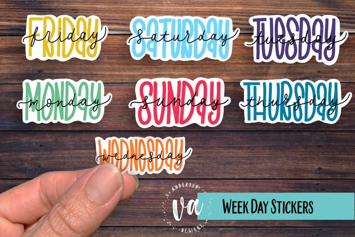 Days of the Week Sticker PNGs