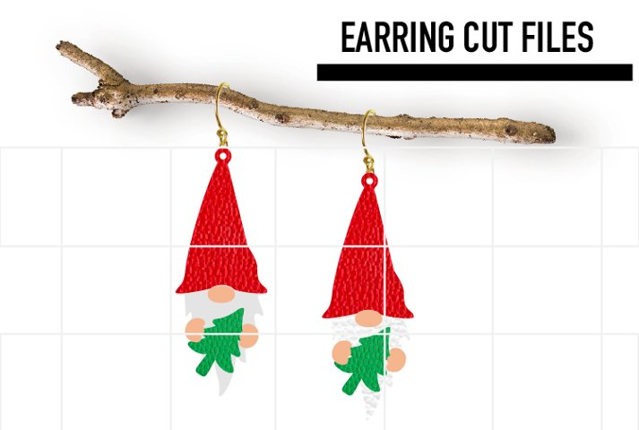 Gnome Chrismtas Earrings Svg / Earrings Template