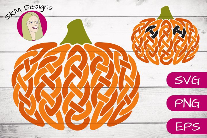 Celtic Fall Pumpkin with Bonus Jack-o-lantern | SVG Cut File