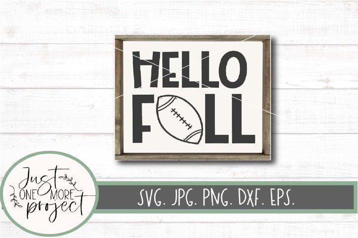 Hello Fall Football svg, Fall Football Decor, Fall Football