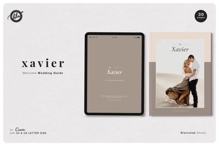 Canva Welcome Wedding Guide | Xavier