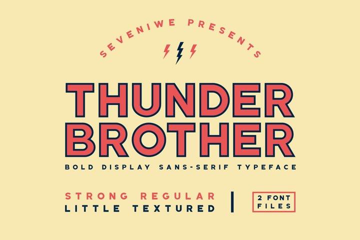 Thunderbrother - Bold Sans-serif Font