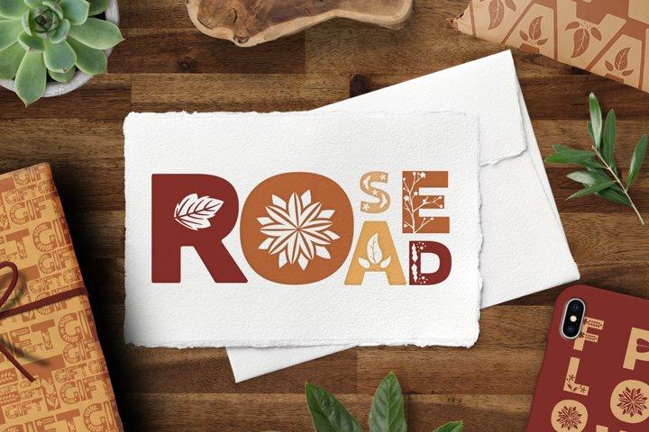 Rose road - Scandinavian floral font