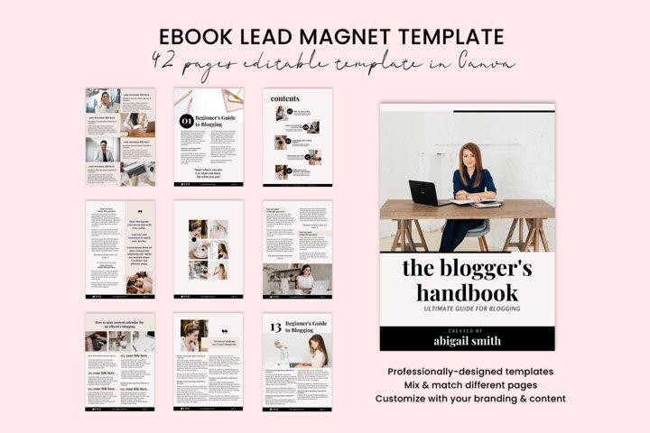Ebook Lead Magnet Template Canva, Opt-in Freebie, Bloggers