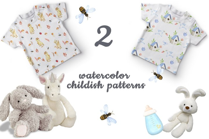 nursery watercolor pattern