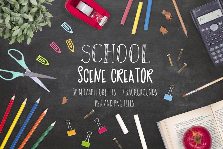 School Scene Creator - Top View