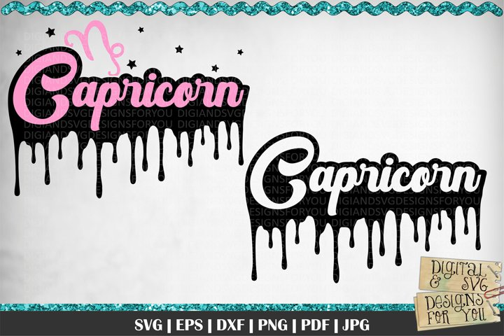 Dripping Capricorn Zodiac svg | Capricorn | Zodiac signs