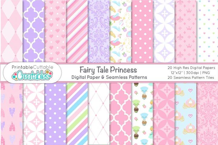 Fairy Tale Princess Digital Paper | Seamless Patterns