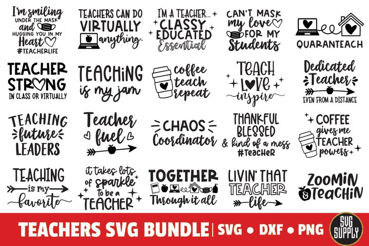 Teacher Quotes and Sayings Bundle SVG Cut File