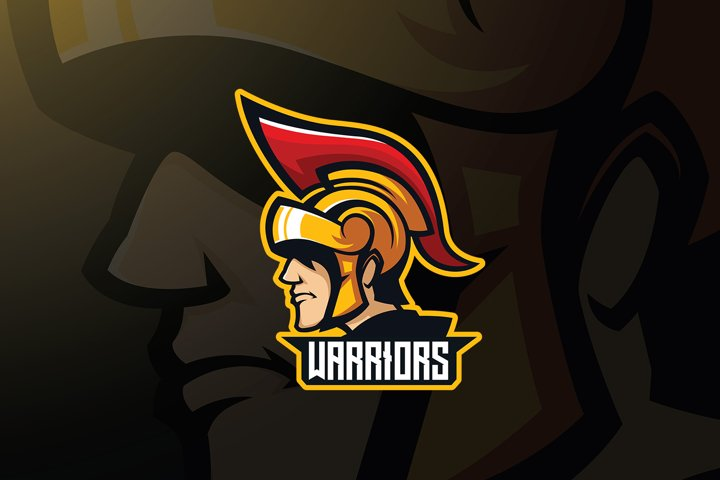 Spartan Warrior Logo Template