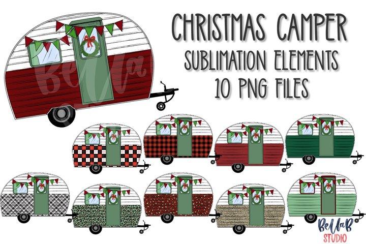 Christmas Camper Elements Bundle