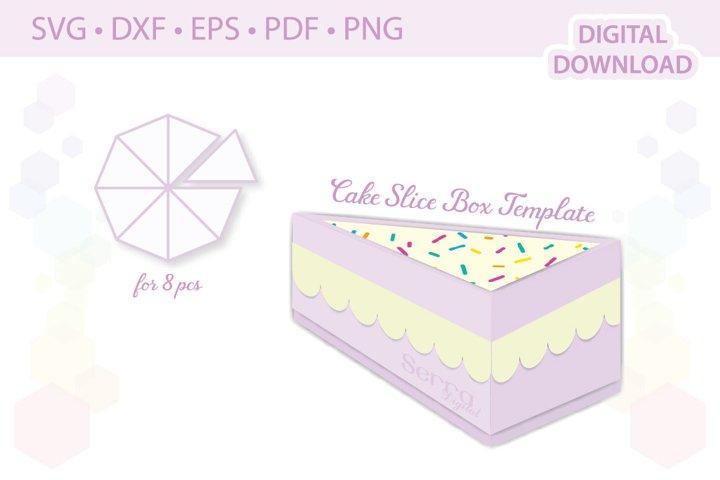 Cake Slice Box Template favor box gift box template