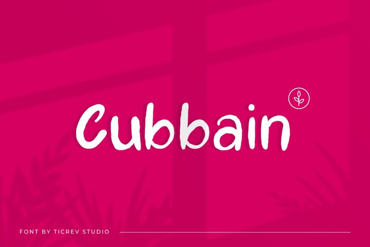 Cubbain-Handwritten Display Font