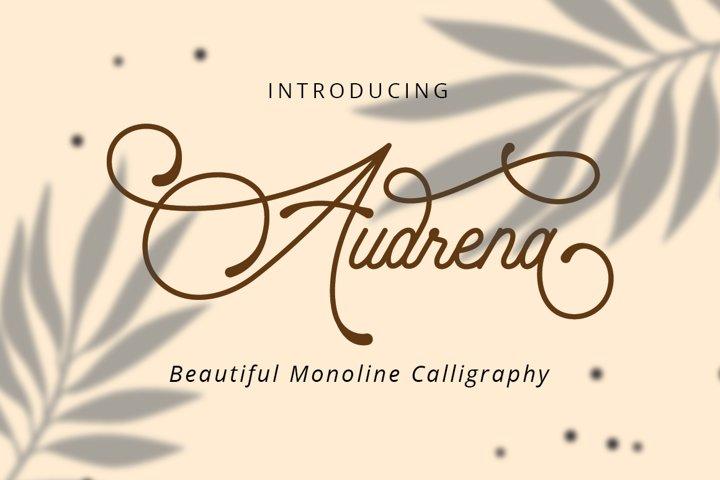 Audrena - Beautiful Monoline Font