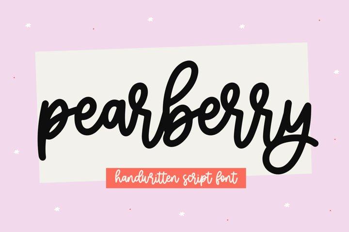 Pearberry - A Cute Handwritten Script Font