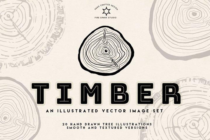 Timber Vector Tree Rings Illustrations