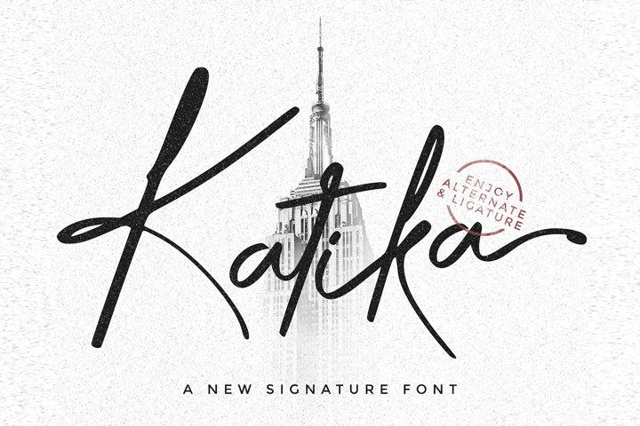 KATIKA - A New Signature Font