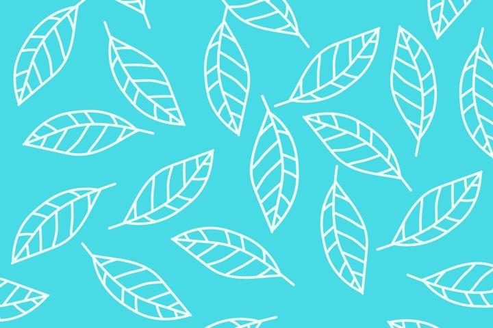 Floral ornament. Leaves pattern. Botanical illustration.