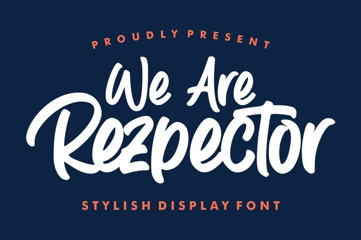 Rezpector || Stylish Display Font