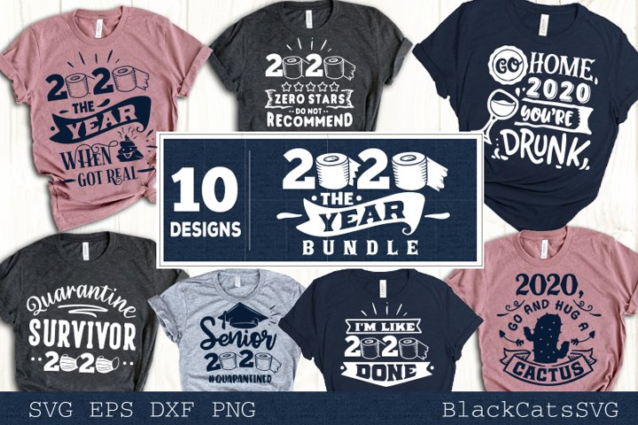 Funny Quarantine 2020 SVG bundle 10 designs - Free Design of The Week